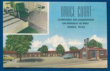 Odessa Texas tx US 80 West Bruce Court Motel 1940s linen postcard