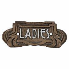 Art Nouveau Ladies Toilet Cast Iron Sign Plaque Door Wall Cafe Shop Pub Hotel