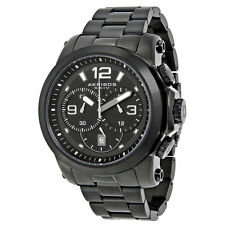 Akribos Black Dial Chronograph Stainless Steel Mens Watch AK631BK