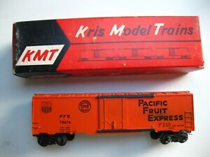 """KMT """"O"""" Scale Pacific Fruit Express Box Car"""