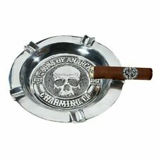 Sons of Anarchy Hand Poured Pewter Round Cigar Ashtray - 5 Finger - New