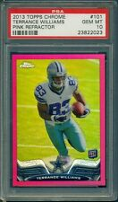2013 TOPPS CHROME PINK REFRACTOR TERRANCE WILLIAMS ROOKIE CARD PSA 10 009/399