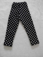 1/ 3 SIZE BLACK POLKA DOT  DOLL PANTS / LEGGINGS FITS DOD BJD DOLLFIE SD