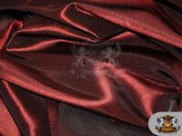 "Taffeta Solid Fabric BURGUNDY / 58"" Wide / Sold by the yard"