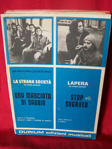 LA STRANA SOCIETA + LAPERA Stop segreto Disco per l'estate 1975 Spartiti