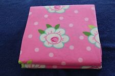 TWIN Rosie Flower Pink Green Cotton Comforter Duvet Cover Company Store Kids