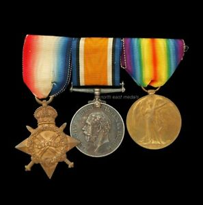 1914-15 Star Medal Trio, Private Sandall, Royal Fusiliers
