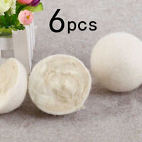 6Pcs 5cm Wool Dryer Balls Natural Fabric Virgin Reusable Softener Laundry Hot