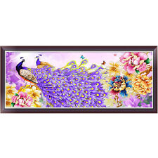 DIY 5D Diamond Painting Embroidery Flower Peacock Cross Stitch Crafts Home Decor