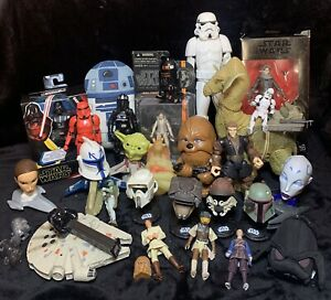 Huge Bulk Lot Of Star Wars Toys Collectables 30+ Items Figures Rare Ronto