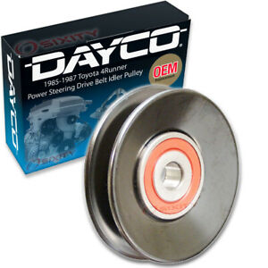Dayco Power Steering Drive Belt Idler Pulley for 1985-1987 Toyota 4Runner ju