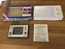 Raro Juego en Caja & Time Racing Vintage Década de 1980 LCD portátil electrónica de juego-como Nuevo