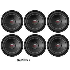 "NEW Pyle PLPW15D 15"" 4000 Watt Speaker Dual Voice Coil 4Ohm Subwoofer (Lot of 6)"