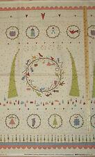 "Under the Mistletoe Primitive Christmas Fabric Panel 23""  #8329P"