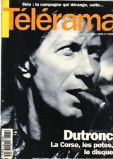 telerama n°2385 dutronc merce cunningham anglade huppert marisa peredes 1995