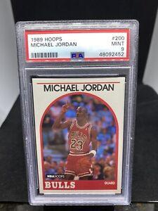 1989 NBA Hoops Basketball #200 Michael Jordan Chicago Bulls HOF PSA 9 MINT