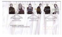 "2005 FDC. Australia. Australian Legends. Fashion Designers. PictPMK ""MELBOURNE"""