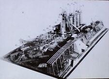 How Pig Iron Is Made, Philadelphia Museum Model, Magic Lantern Glass Slide