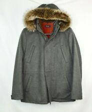 $8800 Loro Piana Gray Fur 100% Baby Cashmere Mens Icer Parka Jacket Small S 48
