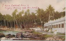 Ceylon Colour Post Card, Plate No. 102 Bathing at Mount Lavinia, Colombo No. 1.