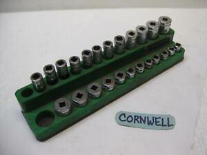 "CORNWELL tools USA 1/4"" drive 24 piece metric Socket Set 6 point 4 to 14mm"