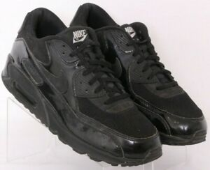 Nike 443817-002 Air Max 90 Premium Black Lace-Up Running Shoes Women's US 11