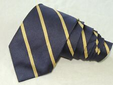 """Brooks Brothers MEN'S TIE BLUE & YELLOW/STRIPED 3.5"""" 58"""" USA"""