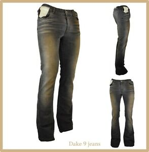 jeans da donna elasticizzati a zampa vita alta w29 42 44 bootcut vintage campana