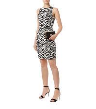 MOSCHINO CHEAP AND CHIC $740 zebra print sheath mini dress 14-US/48-IT NEW