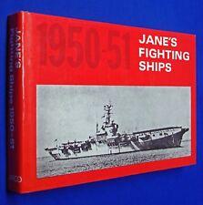 Janes Fighting Ships 1950-1951 HCDJ Hardcover Reprint Navy War Nautical Arco