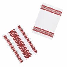 KitchenCraft Jacquard Tea Towels - Jacquard Dark Red