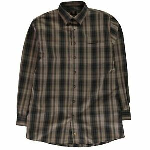 Fusion Mens Check Shirt Long Sleeve Lined Chest Pocket
