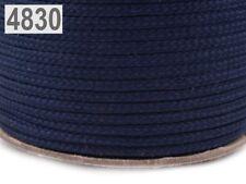 (0,47€/m) 3 Meter Kordel - Polyesterschnur - 4 mm - viele Farben