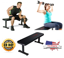 Marcy Flat Gym Home Weight Bench 600 LBS Heavy Duty For Workout Exercise