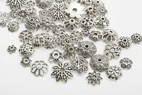 Lots 150pcs Mixed Tibetan Silver Flower Bead Caps Wholesale Jewelry Making DIY^^