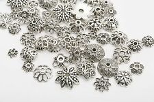 Wholesale Lots Mixed 150pc Tibetan Silver Flower Bead Caps Jewelry Making DIY d6