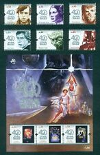 PORTUGAL 2017 STAR WARS - 40 YEARS * 6 STAMPS + 1 BLOCK * MNH ISSUE 25/08