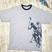 US POLO ASSN Mens L Gray T Shirt - Polo Players 100% Cotton