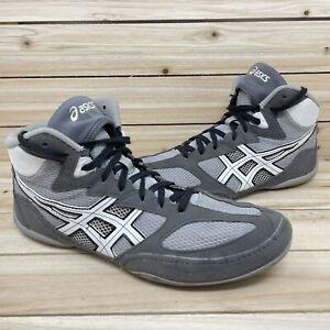 Asics Matflex 4 Flexible Wrestling MMA Shoes Gray White J306N Mens Size 12