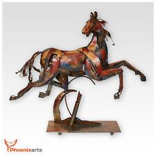 metallskulptur cheval Vintage Figurine décorative GAUL métal fer sculpture