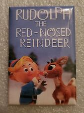 "Rudolph the red nosed reindeer Christmas Refrigerator Magnet 2"" by 3"""