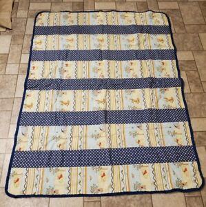 Crib Quilt Winnie The Pooh Handmade. Amazing Condition. 46.5×35 inch