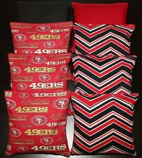 8 Cornhole Beanbags made w San Francisco 49Ers Fabric Aca Reg Bags