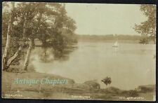 1920 Sail Boat Yacht Redesmere Siddington Cheshire Postcard C196
