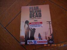 "serie télé saison 1 ""fear the walking dead"" neuf edition limitée"