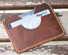 Handmade Leather PARVUS Wallet Sunset Oil Tan W/ Money Band