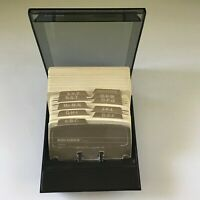 Vintage S-310C Rolodex Petite Covered File System Lined/Blank Cards +AZ Dividers