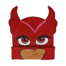 PJ Masks Winter Beanie Hat Premium Acrylic One Size Red Owlette 3/6 Years