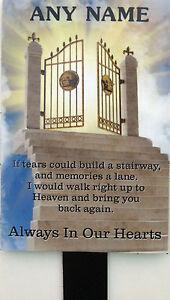 Memorial Plaque Personalised In Loving Memory marker grave headstone stone