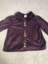 Gymboree Girls Burgundy Fleece Lined Jacket Size 3 Years